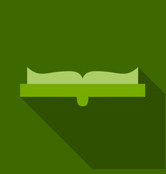 Open book icon in a flat style study vector