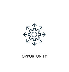 Opportunity concept line icon simple element vector