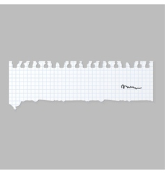 Paper note sheet for message vector image