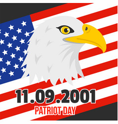patriot day of usa background flat style vector image