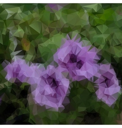 Polygonal plant background vector