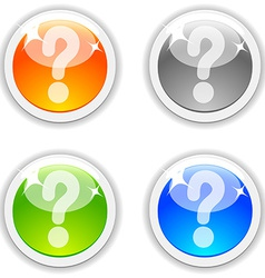 Question buttons vector