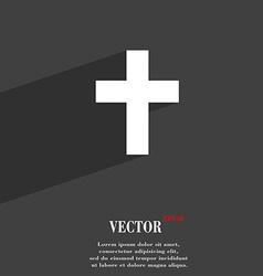 Religious cross Christian symbol Flat modern web vector