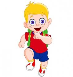 Running schoolboy vector