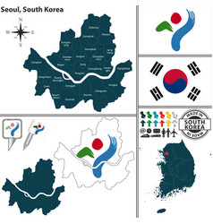 seoul special metropolitan city south korea vector image