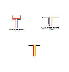 set letter t logo icon design template elements vector image