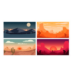 Set poster template with wild mountains vector
