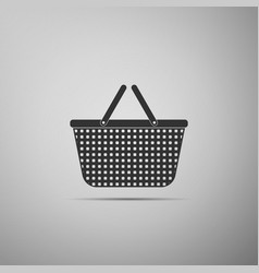 shopping basket icon isolated on grey background vector image