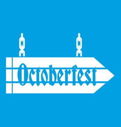 Sign octoberfest icon white vector