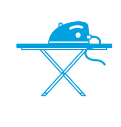 Silhouette iron electrical object and ironing vector