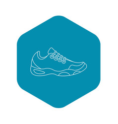 sneakers for tennis icon outline style vector image