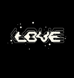 Stylish inscription love for design and print vector