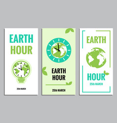 template of earth hour or daylight saving time vector image