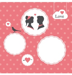 Valentines day card background template vector