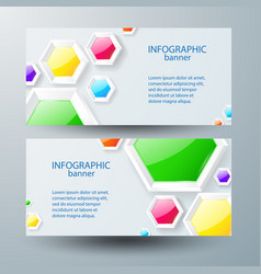 Web infographic horizontal banners vector