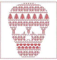 Winter pattern sugar skull vector