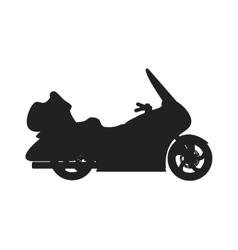 Black sport bike silhouette transport power vector image