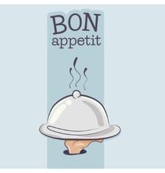 Cartoon Chefs or servants arm holding a Food vector image