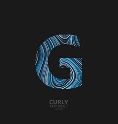 Curly textured letter g vector