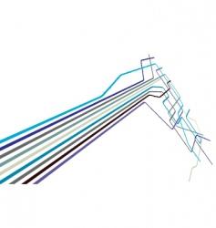 metro lines vector image vector image