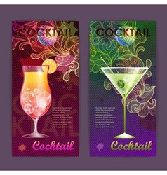 Cocktail poster Disco background vector image vector image