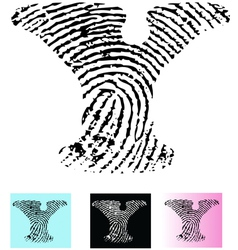 Fingerprint alphabet letter y vector
