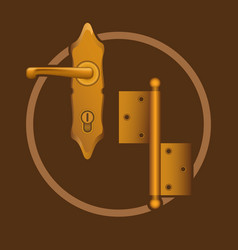 golden door accessories vector image