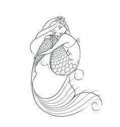 mermaid fairy-tale character vector image