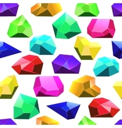 Multicolor crystals seamless pattern vector image