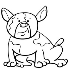 spotted dog cartoon coloring page vector image