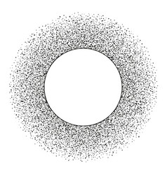 abstract stipple dots round frame with copy space vector image