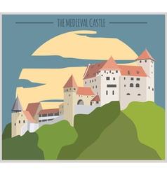 City buildings graphic template Liechtenstein vector image vector image