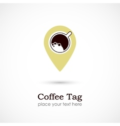 Coffee Tag vector image vector image