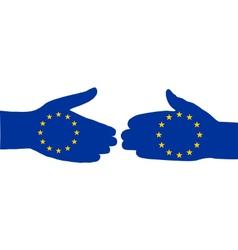 European handshake vector image vector image