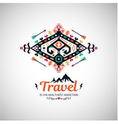 fancy abstract geometric simbol in tribal vector image