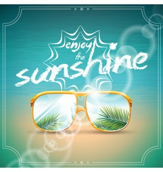 Summer Holiday Design with sunglasses vector image vector image