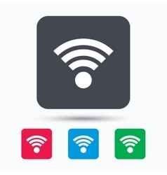 Wifi icon Wireless internet sign vector image