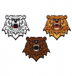 wild bear tattoo vector image vector image