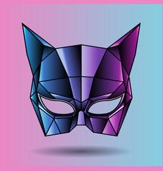 colored mask superhero woman vector image vector image