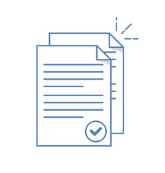 documents icon stack of paper sheets confirmed vector image vector image