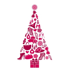 Fashion christmas tree vector
