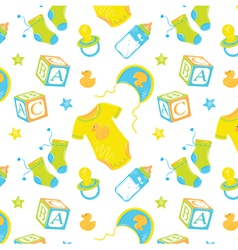 Pattern Childrens clothes vector image