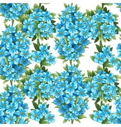 Pattern of forget-me-not vector image vector image