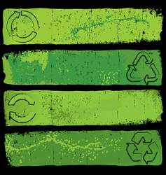 recycle banners vector image vector image