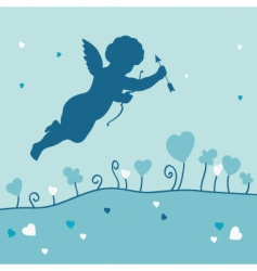 romantic card with angel vector image