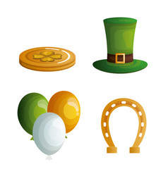 saint patricks day set icons vector image