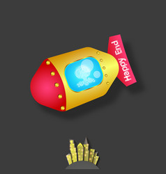 air bomb icon vector image