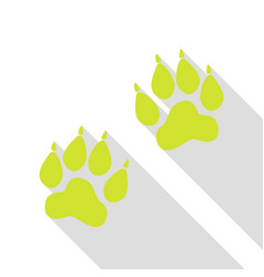 Animal tracks sign pear icon with flat style vector