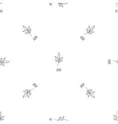 Ash leaf pattern seamless vector
