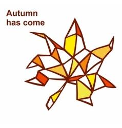 Autumn has come vector